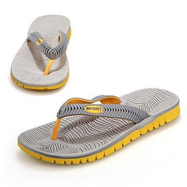 Sandales d'été chaussures d'hommes Outdoor / Robe / Chaussons synthétiques occasionnels / Tong Noir / Bleu / gris Black