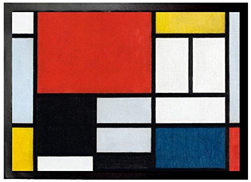 Felpudos Grandes Composición Con Plano Grande En Rojo, 1921 Felpudo A