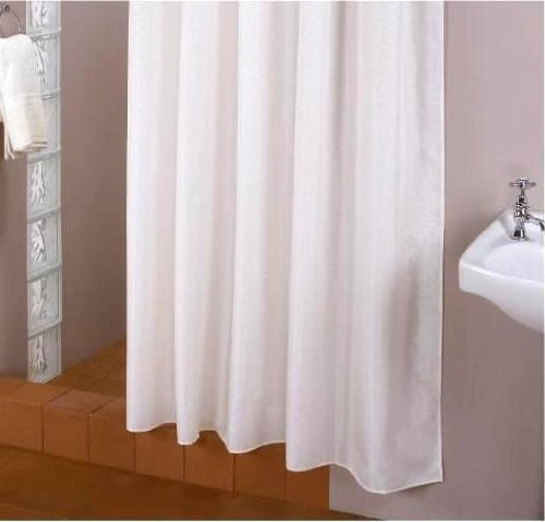 Extra Long Fabric Shower Curtain 200 X 220 Cm With Rings