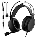 Leichte PS4 Xbox One Gaming Headset Stereo mit Mikrofon Mute 3,5 mm Kabel über Ohr Computer...