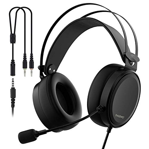 Auriculares Gaming PS4 PC, Cascos Música con Micrófono de Sonido Nítido Estéreo 7.1 Diseño Ligero Reducción de Ruido Compatible con Windows Mac Android Iphone Xbox - 3.5mm