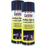 Carlofon 40707Roue Spray Noir satiné mat 400ml Lot de 2