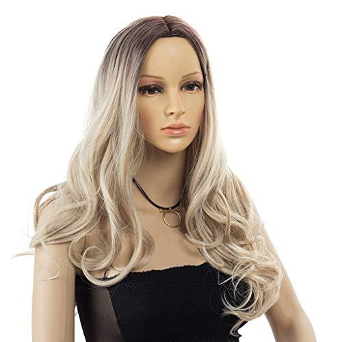 Perücke Kopfbedeckungen Lange Haare Locken Farbverlauf 50cm