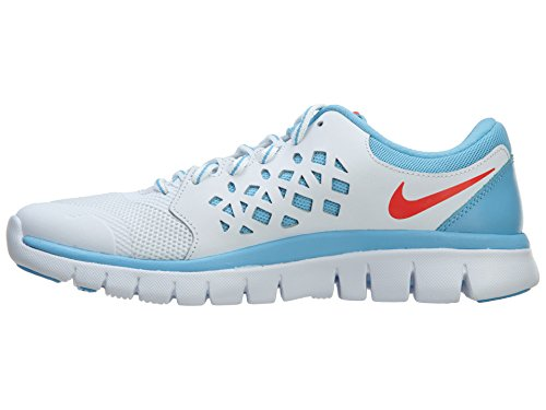Nike Laufschuhe Flex 2015 Run (GS) white-bright crimson-lakeside (724992-100)