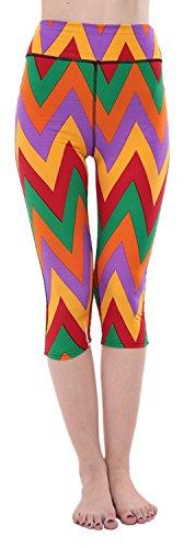 EOZY Leggings Slim De Sport Imprimé Femme Collant Pour Running Yoga Fitness B