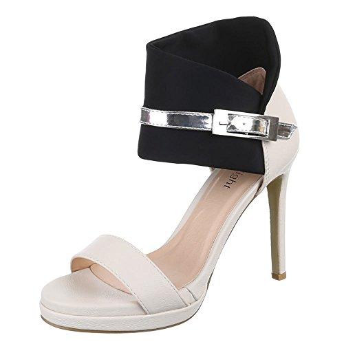 Ital-Design - Sandali  donna Nero (Black - Schwarz Beige)