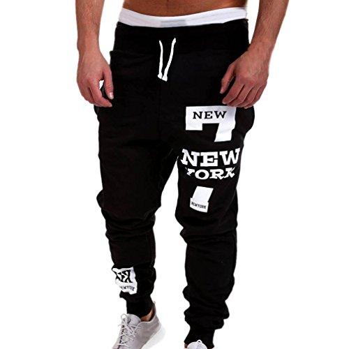 Malloom Pantalons pour Homme survêtement Occasionnels Sport Hiphop