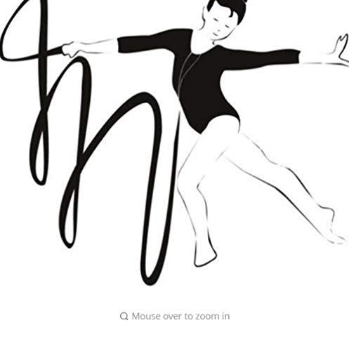 Wandaufkleber,Gymnast And Ribbon Gymnasti Dancing Wandaufkleber Gym Sports Decor Art Aufkleber 80cmX94cm