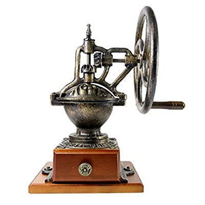 HCCTI Vintage Classic Hand-cranked Coffee Grinder, Iron Coffee Grinder, Home / Commercial Coffee Machine, Powder Thickness Adjustable, Decorative Ornaments by HCCTI