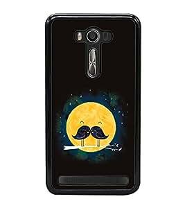 Vizagbeats Sparrow Pair Fullmoon Moonstache Black Back Case Cover For Asus Zenfone Selfie