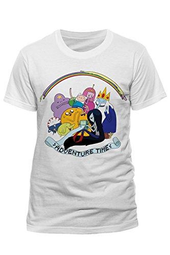 Adults T Shirt Adventure Time Rainbow Full Cast Jake The Dog Finn The Human Tee