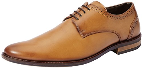 Symbol Men's Tan Formal Derby Shoes- 9 UK/India (43 EU)(AZ-KY-89B)