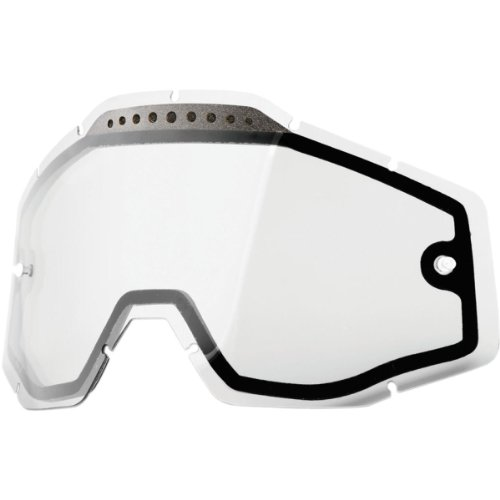 Preisvergleich Produktbild Unbekannt 100% Racecraft/Accuri/Strata Vented Dual Pane Linse Anti-Nebel, Clear, One Size