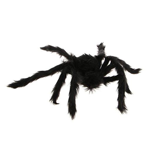 D DOLITY Schwarz Stofftier/Plüsch / Haarige Spinne Halloween Spinne Spielzeug für Alle - 50 cm
