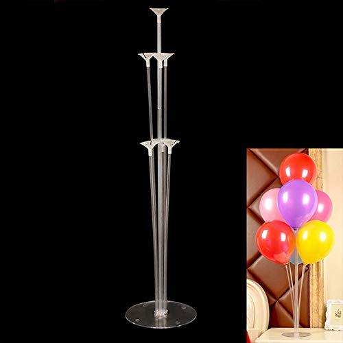 BaconiXfF 1Stück Kunststoff Luftballons Stehen-Tabelle Luftballon Unterstützung Rack Set für Hochzeit Party Schreibtisch
