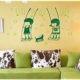 Vinilo decorativo pegatina pared, cristal, puerta (Varios colores a elegir)- columpio infantil