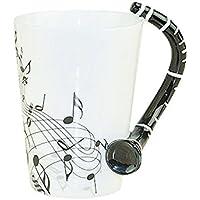 Note Musicali Disegno Bone China Tazza Di Ceramica Tazza Di Caffè Con Manico Clarinetto, A - Bone Disegno