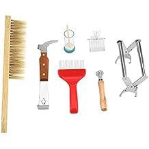 7pcs Kit de Suministros de Apicultura, Conjunto de Equipo de Apicultura Durable Herramienta Completa de