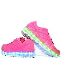 Envio 24 Horas Usay like Zapatillas LED Con 7 Colores Luces Carga USB Rosa Niña Chica Mujer Unisex R Talla 36 hasta 41 Envio Desde España