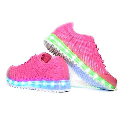 Usay-like-Envio-24-Horas-Zapatillas-LED-con-7-Colores-Luces-Carga-USB-Rosa-Nia-Chica-Mujer-Unisex-R-Talla-36-Hasta-41-Envio-Desde-Espaa