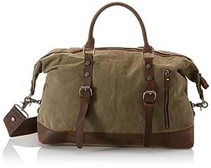 Estarer Weekender Tasche Sporttasche Handgepäck für kurze Reise Arbeitstasche Vintage 30 Liter Updated -Armee Grün