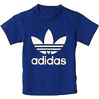 Adidas I Trefoil tee Camiseta, niños, Azul (Tinmis/Blanco), 104