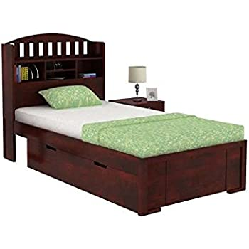 Aprodz Sheesham Wood Santiago Storage Single Bed For Bedroom Stylish