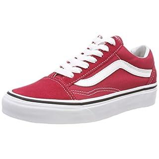 Vans U Old Skool, Damen Sneaker Rot Rouge (Brick Red/True White) 34.5