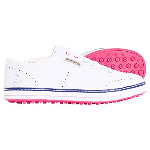 Green Lamb, Scarpe da Golf Donna *, Bianco (White-Fuchsia), 38