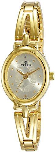 Titan Karishma Revive Analog Champagne Dial Women's Watch-2594YM01