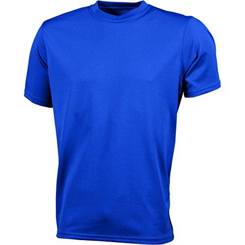 JAMES & NICHOLSON - Maglietta sportiva - Basic - Collo a U  - Maniche corte  -  uomo Blu Royal