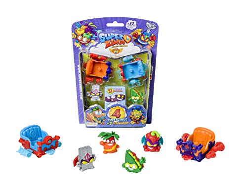SUPERZINGS- Blíster 5 Serie 4 Vehículos y Figuras coleccionables, Multicolor (Magic Box PSZ5B416IN00)