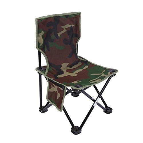 Chaise Pliante De Pêche Fauteuil pêcheur Portable Chaise De Camping De Pique-nique Siège Pliable Chaise Stable De Plage Camouflage