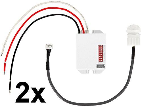 Mini Einbau IR Bewegungsmelder 360 Grad 230V - LED geeignet