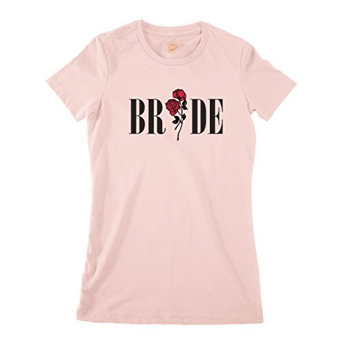 studio315 Clásico Novia Camiseta en Rosa Polvoriento con Rosa Diseño Despedida De Soltera Regalo Boda - Rosa, XX-Large