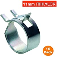 4 x 9mm Mikalor Doble Alambre Clips de muelle de manguera de silicona tubo de aire Fuelband abrazadera