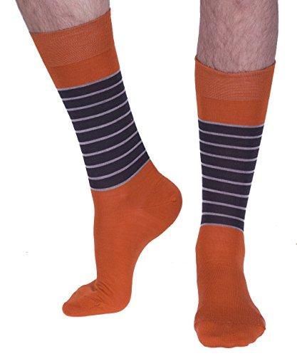Richard James luxury socks -  Calze  - Uomo Orange, Brown, Caramel M,L