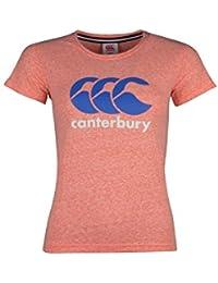 Tshirt de Rugby Femmes à Logo CCC - Corail