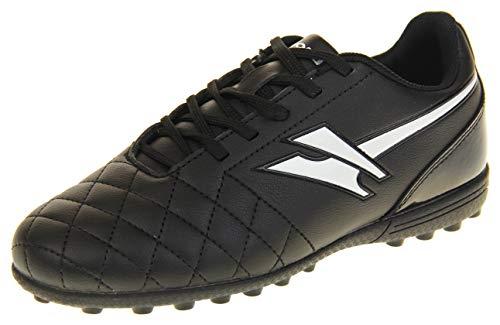 Gola Jungen Activo5 Astroturf Fußballschuhe Sports Schnürsenkel Turnschuhe Schwarz und Weiß EU 34 (Weiße Stiefel Für Jungen)