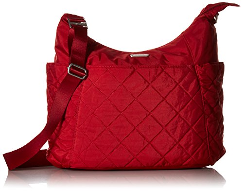 Baggallini Tote (Baggallini Damen Quilted Tote with Gesteppte Hobo-Tasche mit RFID, Red Quilt, Einheitsgröße)