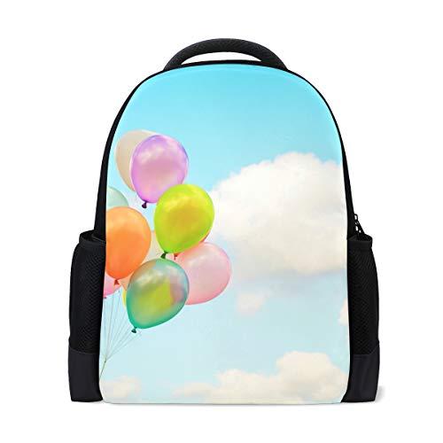 College Laptop Reiserucksack Für Frauen \u0026 Männer Himmel Spielzeug Ballon Wolken ()