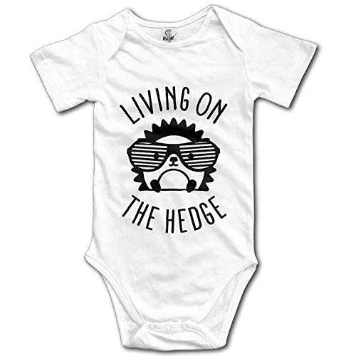 Cutee Living On The Hedge Hedgehog with Glasses Babysuit Infant Jumpsuit Kawaii Baby Girls Boys Romper Bodysuits Champion Infant Bodysuit