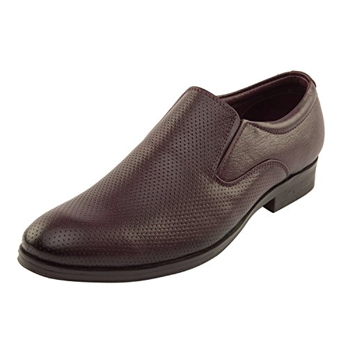 Vardhra Men 100% Genuine Leather Formal Slip-on Shoes - Brown