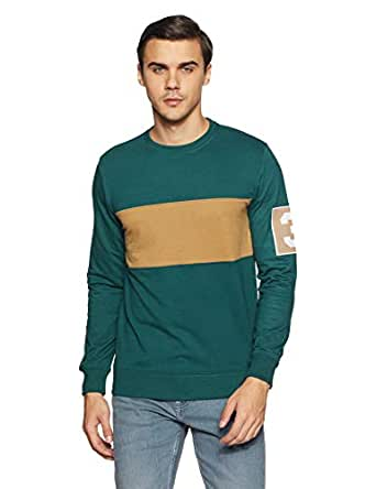 Amazon Brand - Symbol Men's Sweatshirt (AW18MNSSW08D_Deep Teal_L)