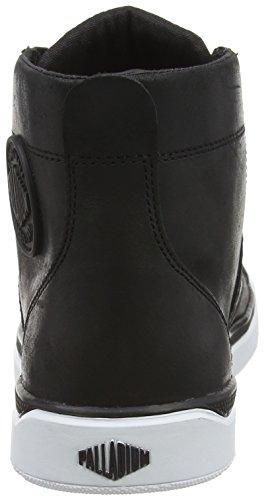 Palladium Pallarue Hi Leather, Anfibi Donna Nero (black/white 002)