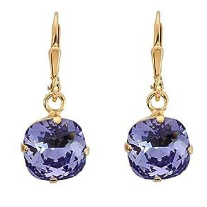 Bijou PASSEPORT POUR L'OR Boucles d'oreille Purple planet plaqué Or