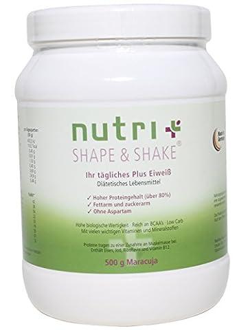Nutri-Plus Shape & Shake 500g Maracuja mit Whey + Casein