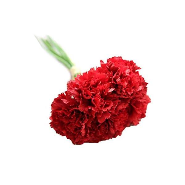 mailfoulen Artificial de Flores de Seda Clavel 6 Cabezas/Ramo de Fiesta de la Boda decoración del hogar
