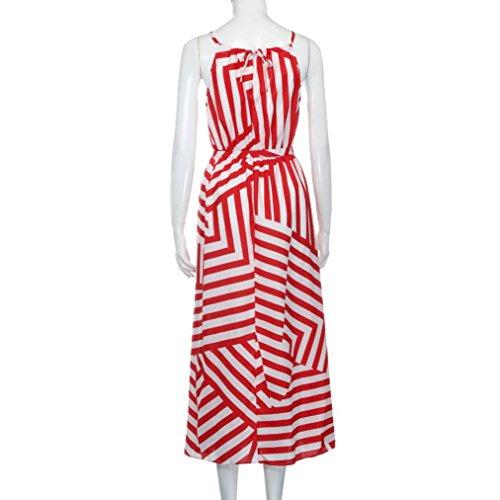 Frauen Röcke VENMO Frauen Sommer Boho Maxi lange Abendgesellschaft Strandkleid Sundress Red