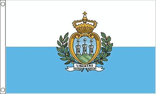 Flag Wholesaler San Marino Crest Drapeau Mixte, Multicolore, Grand